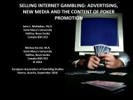 selling internet gambling - European Association for the Study of ...