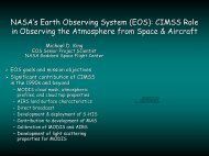 NASA's Earth Observing System (EOS): CIMSS Role in Observing ...