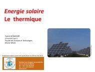 Solaire thermique - Patrick MONASSIER