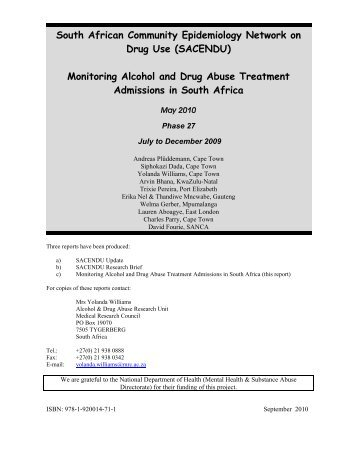 South African Community Epidemiology Network on Drug Use ...