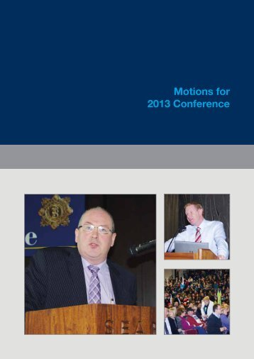 Download the AGSI Motions 2013 - Association of Garda Sergeants ...