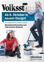 Ab 8. Oktober in neuem Design!