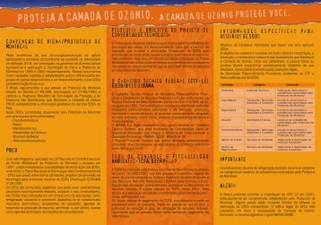 Convenção de Viena/Protocolo de Montreal PBCO Filosofia e ...
