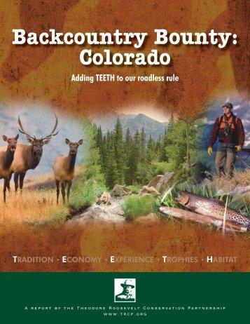 Backcountry Bounty - Theodore Roosevelt Conservation Partnership
