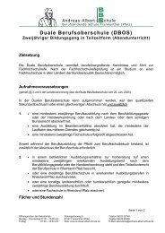 Duale BOS - Andreas-Albert-Schule