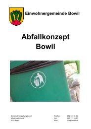 Abfallkonzept Bowil