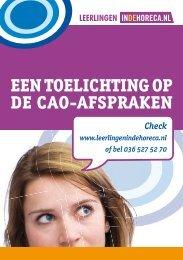 EEN TOELICHTING OP DE CAO-AFSPRAKEN - FNV Horecabond