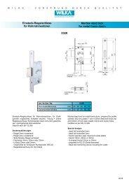 Einsteckschloss PZ-Einsteck-Riegelschloss für Rohrrahmentüren EN 12209