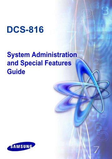 DCS-816 SYSTEM ADMIN GUIDE - The Telecom Shop