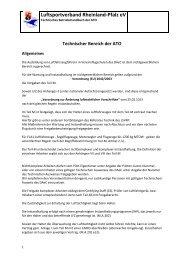 Technischer Bereich der ATO - Luftsportverband Rheinland-Pfalz eV