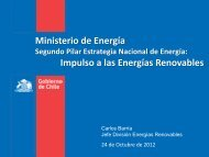 Ministerio de Energía Impulso a las Energías Renovables