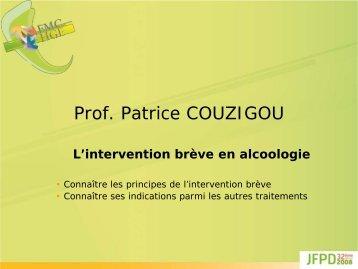 L'intervention brève en alcoologie