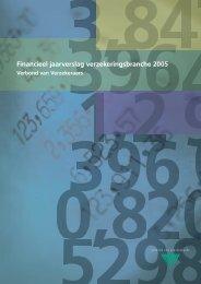 Financieel jaarverslag verzekeringsbranche 2005 - Verbond van ...