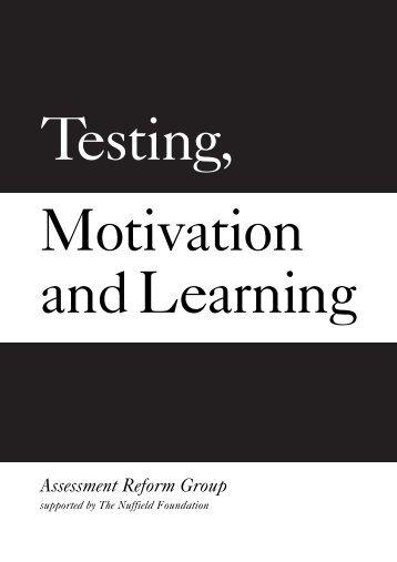 Testing, Motivation and Learning - WordPress – www.wordpress.com