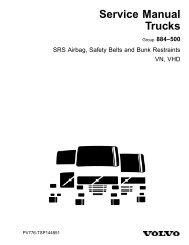 SRS Airbag, Safety Belts and Bunk Restraints