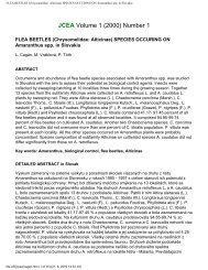 FLEA BEETLES (Chrysomelidae: Alticinae) SPECIES OCCURING ...