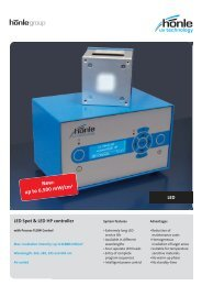 Product information LED Spot - Dr. Hönle AG