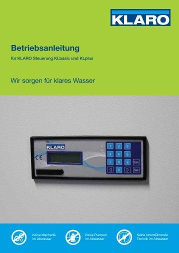 Betriebsanleitung - KLARO GmbH