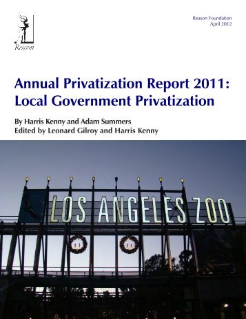 Annual Privatization Report 2011: Local Government Privatization