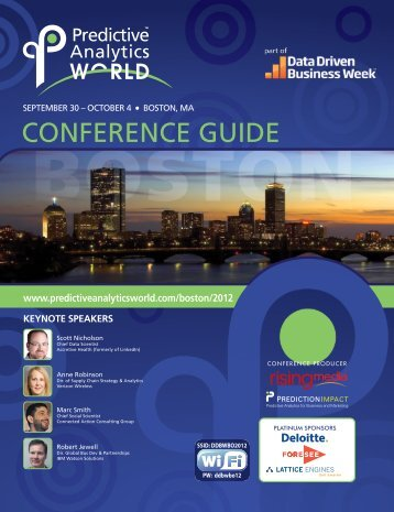 CONFERENCE GUIDE - Predictive Analytics World