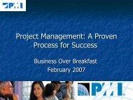 Project Management - La Crosse PMI chapter