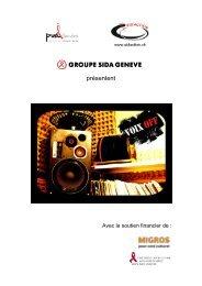 Télécharger le flyer du projet... - Groupe sida Genève