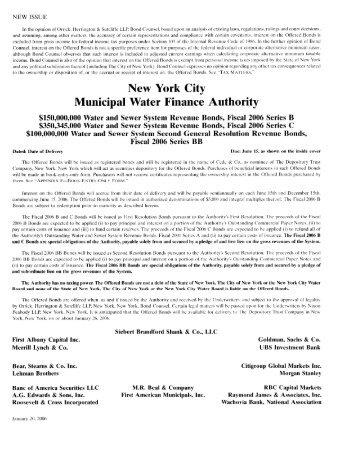New York City Municipal Water Finance Authority