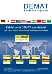 Exhibit with DEMAT worldwide! Trade Fair for Product ... - EuroMold