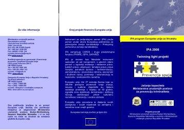 Letak IPA 2008 Twinning light projekt Jačanje kapaciteta