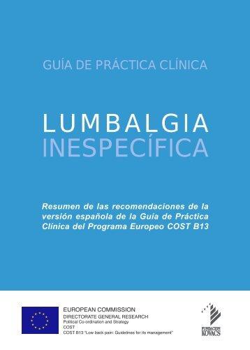 Guía de Lumbalgia - Versión resumida - TAISS