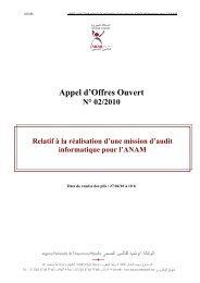 Appel d'Offres Ouvert - Agence Nationale de l'Assurance Maladie