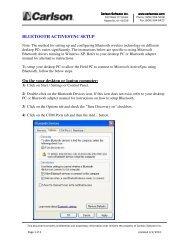 Bluetooth Activesync for WM6 - Carlson Software