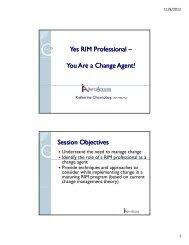 You Are a Change Agent! - ARMA Terra Nova Chapter