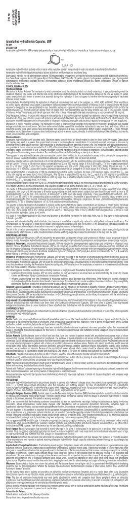 Amantadine Hydrochloride Capsules, USP - Upsher-Smith