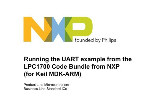 Running the UART example from the LPC1700 Code     - ICs - NXP
