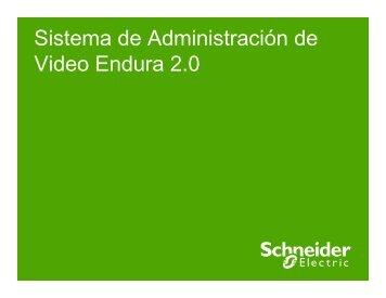 Sistema Administración Endura - Schneider Electric