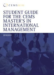 CEMS MIM Student Guide