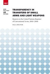 Transparency in Transfers of Small Arms and Light Weapons, SIPRI ...