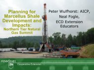 Planning for Marcellus Shale Impacts and Developments