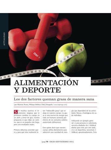 alimentación y deportes Revista Ekos 209 Sep 2011 - Ekos Negocios