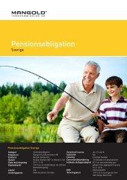 Pensionsobligation Sverige - Mangold Fondkommission