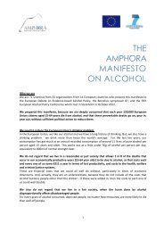 THE AMPHORA MANIFESTO ON ALCOHOL - amphoraproject.net