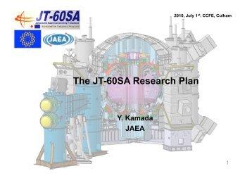 The JT-60SA Research Plan - ENEA - Fusione