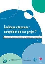 Coalitions citoyennes : comptables de leur projet ? - Droits de l ...
