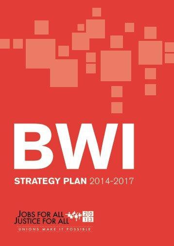 Strategy Plan 2014-2017 - BWI 2013 World Congress - bwint.org