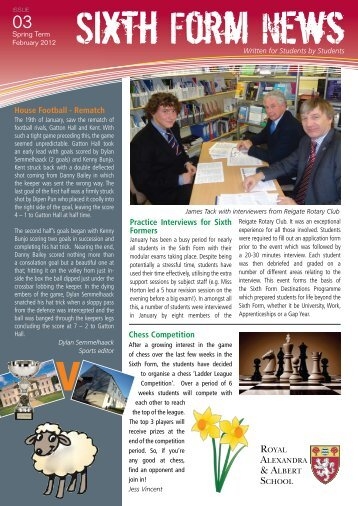 Open document - Royal Alexandra and Albert School