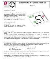 1 OBJECTIFS DE L'EPREUVE - Site web du groupe scolaire St ...
