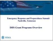 DHS Grant Programs Overview - U.S. National Response Team (NRT)