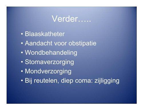 Palliatieve sedatie - Verpleegkundigen & Verzorgenden Nederland