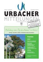 """Einladung zum """"Tag des Baumes"""" - Gemeinde Urbach"""